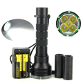 New 10000 Lumen Underwater 200M Torch 5x XM-L2 LED Scuba Diving Flashlight Diver Torch Light for 2x18650 or 26650 Battery