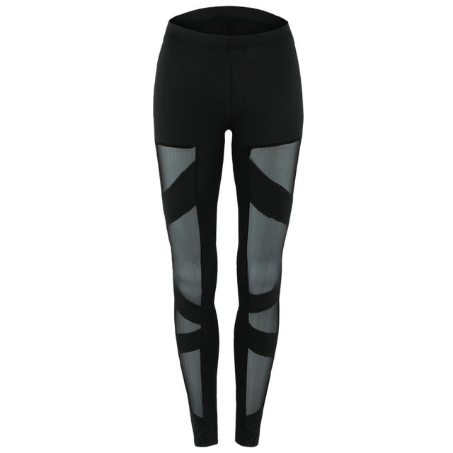 Slim  Fit  Tight Mesh Workout Leggings