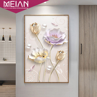 Meian Special Diamond Embroidery Full DIY Diamond Painting Tulip Flowers Cross Stitch Diamond Mosaic Bead Picture