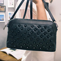2016 New Korean Women Handbags Genuine Leather  Messenger Bag Sheepskin Travel Bag Patchwork Should Bag Bolsa Feminina H828
