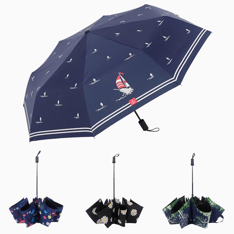 3 taitettava sateenvarjo naisten sade anti-UV-suojan ja sateenvarjo - Kotitaloustavarat - Valokuva 1