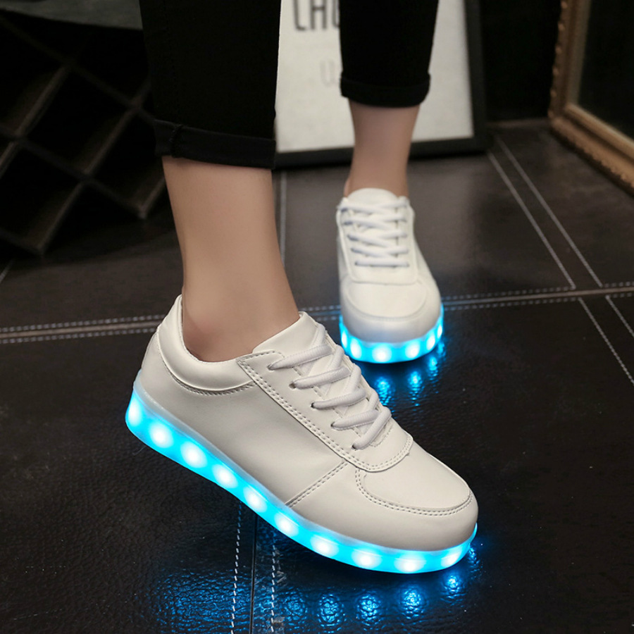 Size 35 46 Luminous Sneakers Led Slippers Tenis Led Simulation Glowing Sneakers Calzado Infantil Infant Light
