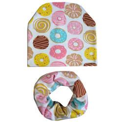 Мультфильм печати Хлопковая шапочка для младенца шарф Набор Прекрасный Детские шапки нагрудники шарф для девочек, для мальчиков теплая