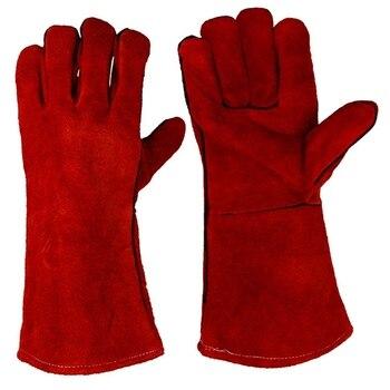 ריתוך כפפות-חום/אש עמיד, מושלם עבור רתך/תנור/אח/בעלי החיים טיפול/מנגל כפפות-14 סנטימטרים