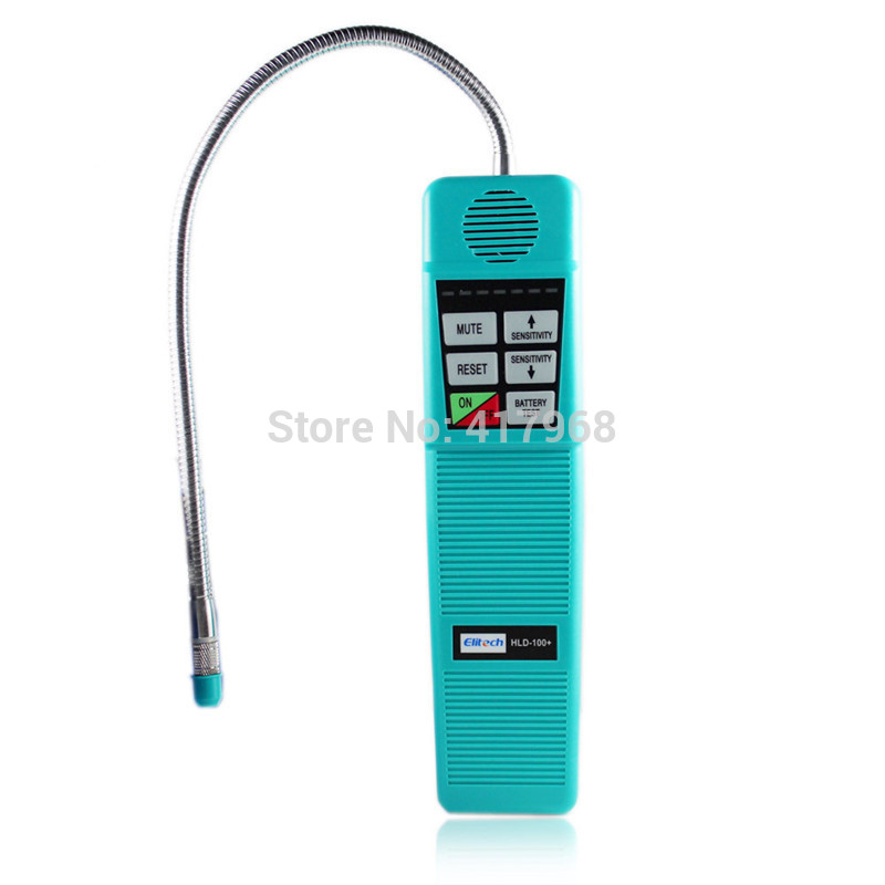 ФОТО HLD-100 Elitech Freon Halogen Refrigerant Gas Leak Detector R410A R134A HVAC Sensitivity Tool + extra sensor