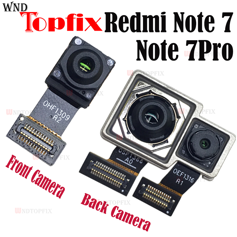 New Original Xiaomi Redmi Note 7 Back Camera Flex Cable Redmi Note 7 Pro Rear Main Camera Note 7 Front Camera Note7 Big Camera