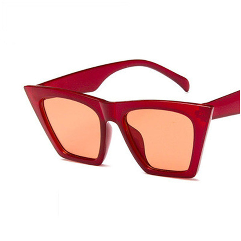 2018 Fashion Brand Retro Cat Eye Sunglasses Women big diamond sun glasses acetate transparent blue frame black suns eyewear in Women 39 s Sunglasses from Apparel Accessories