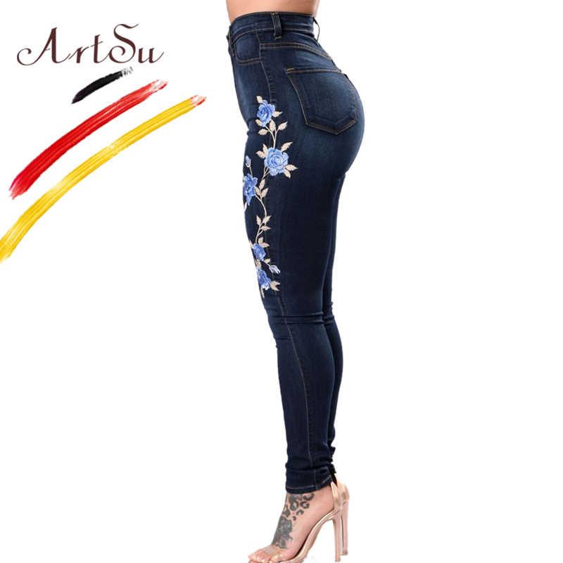 05ad2ca30b8 ... Арцу леди стрейч Высокая Талия обтягивающие джинсы джинсовые узкие брюки  Высокая талия Push Up Джинсы с