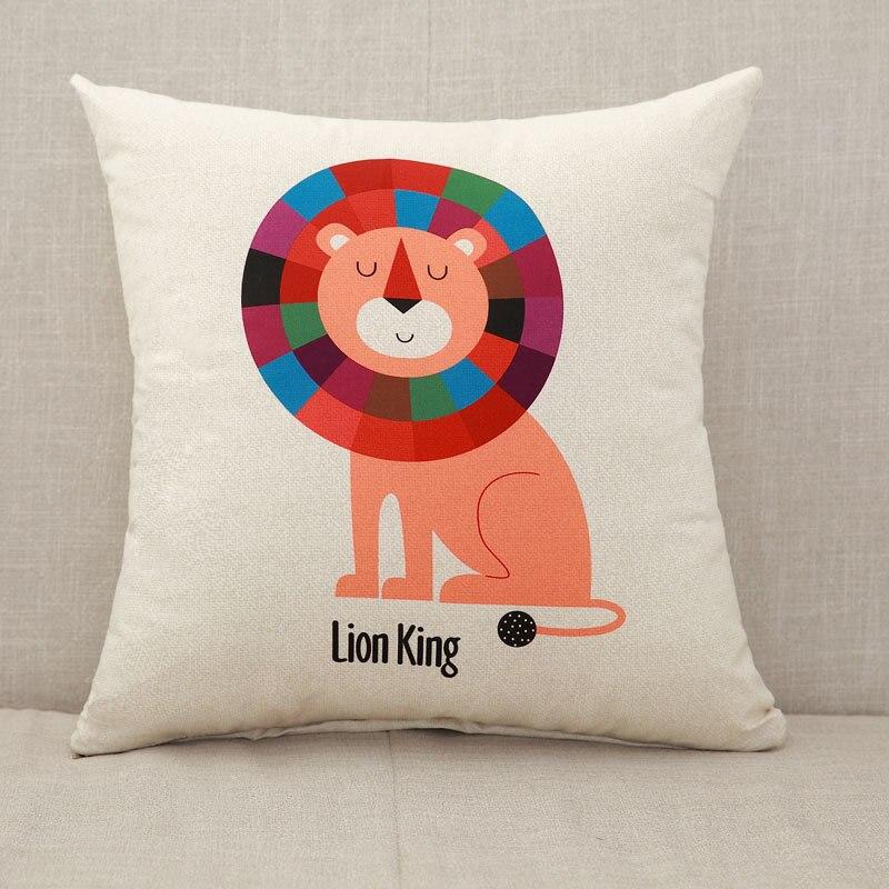 YWZN милый мультяшный чехол для подушки с котом, креативный чехол для подушки с изображением жирафа, декоративный чехол для подушки со слоном, funda cojin kussenhoes - Цвет: 6