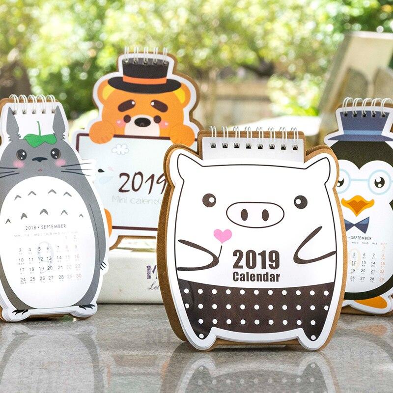 Analytical 2019 Cute Cartoon Piggy Desk Calendar Diy Mini Portable Table Calendars Daily Schedule Planner 2018.09~2019.12 Calendars, Planners & Cards