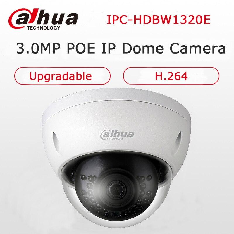 Dahua English Version IPC-HDBW1320E 3MP P2P Camera IR 30M IP67 Network IP Camera Outside Waterproof Mini Dome Camera Upgradable dahua 3mp ir waterproof