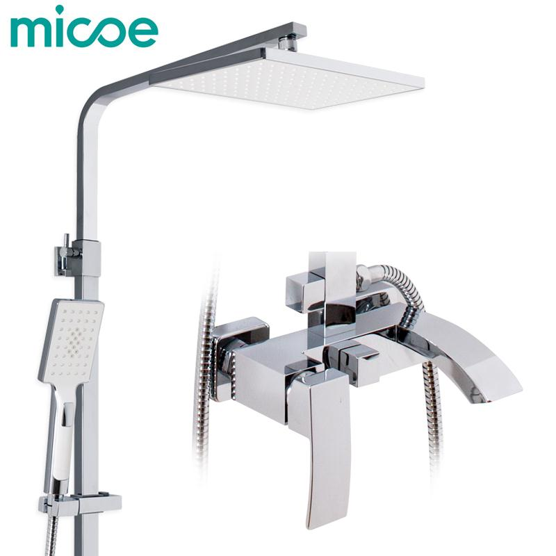 Micoe Bathroom Shower Set Bathtub Faucet Tap Bathroom Shower Faucet Set Waterfall Bath Sink Faucet Cold And Hot Water Mixer gappo water tap bathroom deck mount basin sink faucet torneira cold hot water mixer tap grifo bathroom faucet in hand shower set