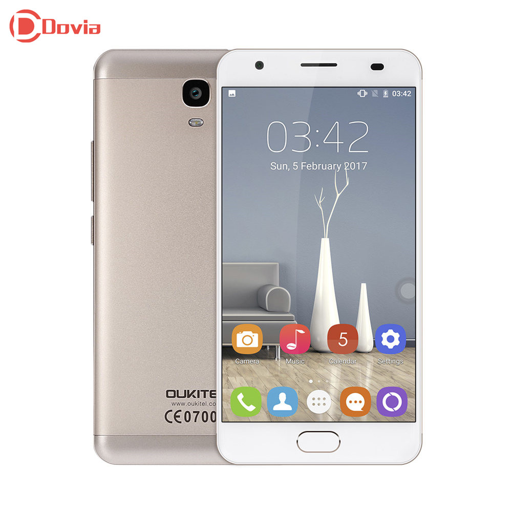OUKITEL K6000 Plus 4G Smartphone 5.5 Android 7.0 MTK6750T Octa Core 4GB RAM 64GB ROM 8MP+16MP 6080mAh Unlocked Mobile Phone