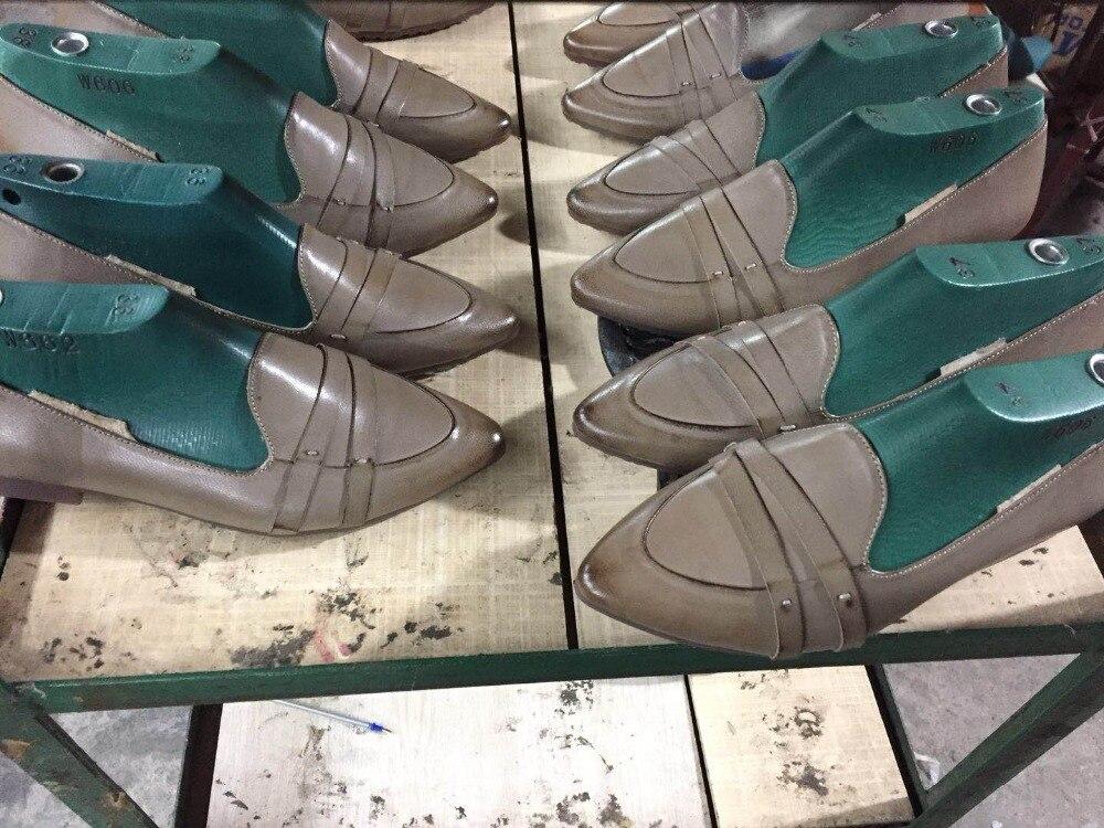 Confortables gris De La Peau Tout Ans Mouton 18 Nouvelle Chaussures allumette Pointu jaune Noir Plates En 1gYqfx6