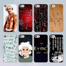 Albert Einstein Physical formula Graffiti design transparent clear hard case cover for Apple iPhone 6 6S 6Plus 7 7Plus 5 5s SE 5