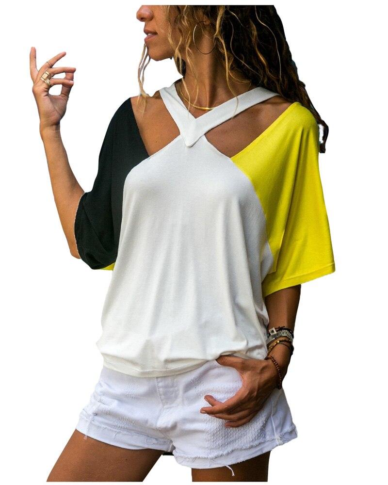 Taschen Mit Griff Oben Femme Sexy Liebsten T-shirt Sommer Eine Schulter Tops Für Frauen Halbe Hülse Shirt Beiläufige Lose Shirts Plus Größe