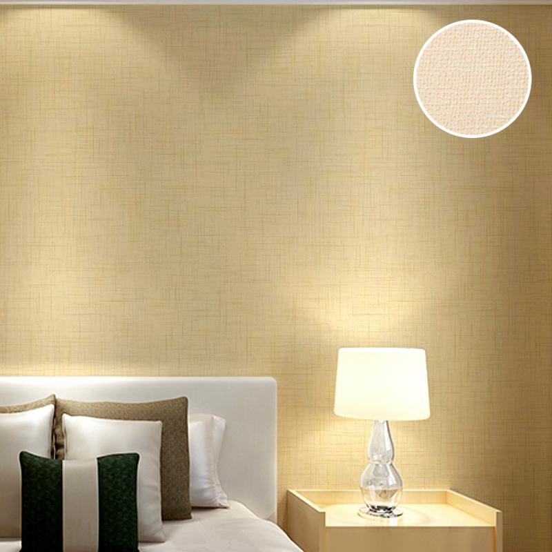 moderne plain grasscloth vinyl tapete rollen solide farbe beige leinen strukturierte stroh wand papier fr schlafzimmer
