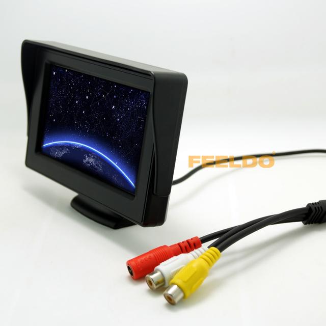 4.3 polegada TFT LCD Monitor para carro invertendo câmera de segurança de DVD / VCR # FD-2799