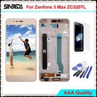 Sinbeda 5 2 LCD For ASUS Zenfone 3 Max ZC520TL LCD Display Touch Screen Panel Digitizer