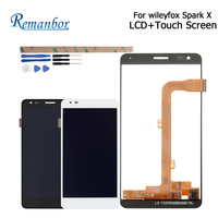 Remanbor For Wileyfox Spark X LCD Display and Touch Screen 5.5 inch Phone Accessories For Wileyfox Spark X With Tool+Adhesive