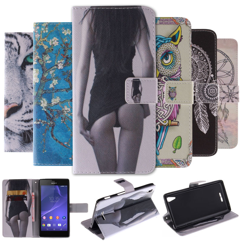 Painting Stand Flip Leather Cover Case for SONY