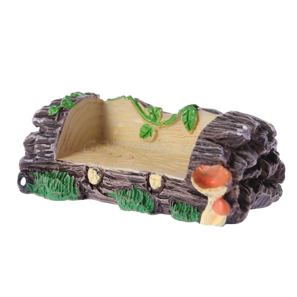 Waterproof Miniature Resin Bench Micro Garden Plant Pots Bonsai Craft Decoration Ornament 5.8cmx2.1cm