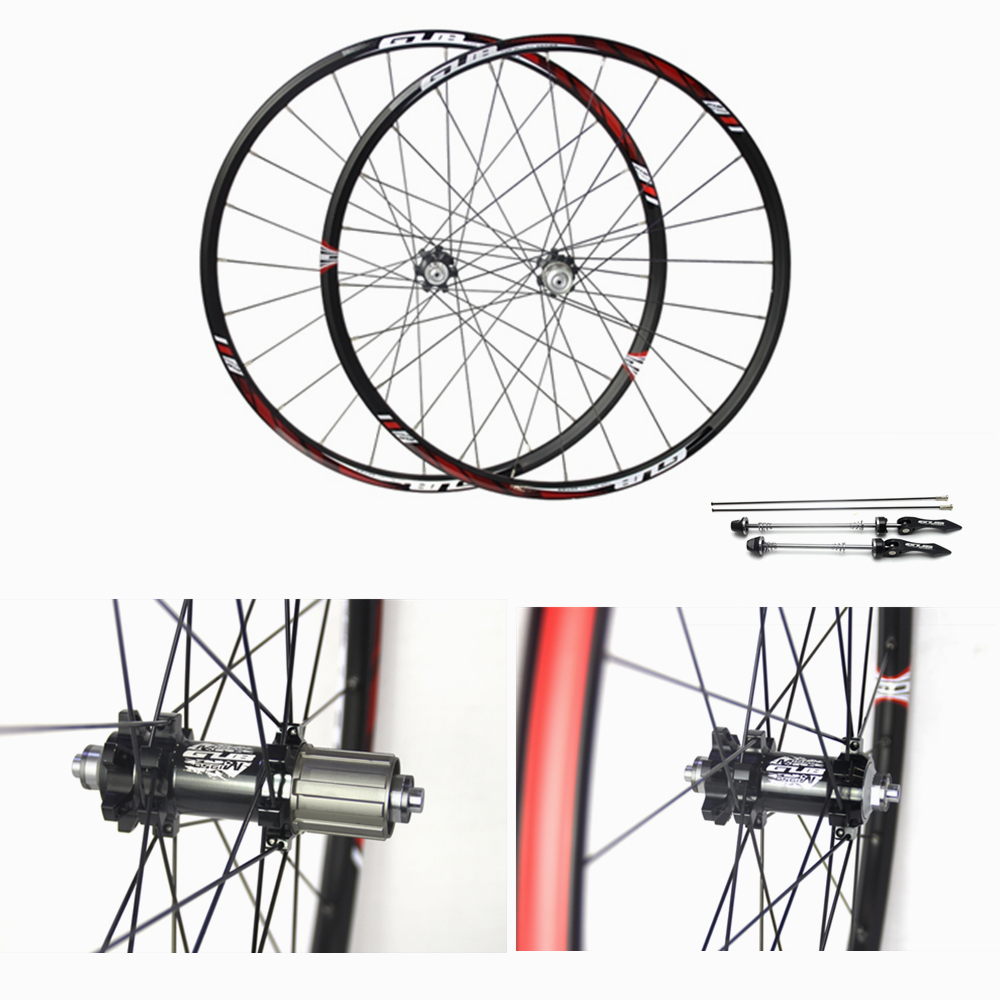 GUB 1950 26 27.5 MTB Mountain Bike Wheelsets 4 Bearing Hub Bike Parts Bike Aluminum Alloy Wheel Sets 24Holes Cycling Wheels aluminum alloy bicycle crank chain wheel mountain bike inner bearing crank fluted disc mtb 104bcd bike part