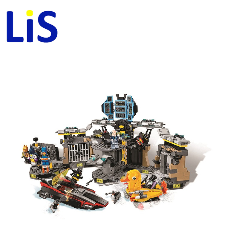 Lis 1087pcs 10636 BATMAN MOVIE Batcave Break-in Building Blocks set DIY Bricks toys Gift for children Compatible With 70909 gonlei new 610pcs 10634 batman movie the batmobile building blocks set diy bricks toys gift for children compatible lepin 70905