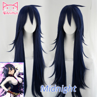 AniHut Midnight Nemuri Kayama Cosplay Wig My Hero Academia Cosplay Wig Synthetic Blue Hair Anime Boku No Hero Academia Cosplay