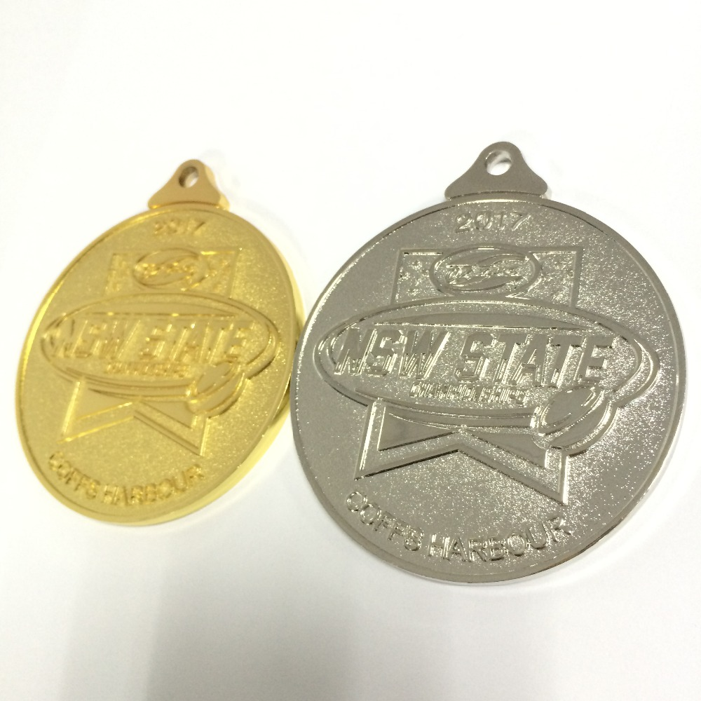 custom medal of bravery with cutom logo and design attached with medal lanyard --50.8mm diameter-100pcs
