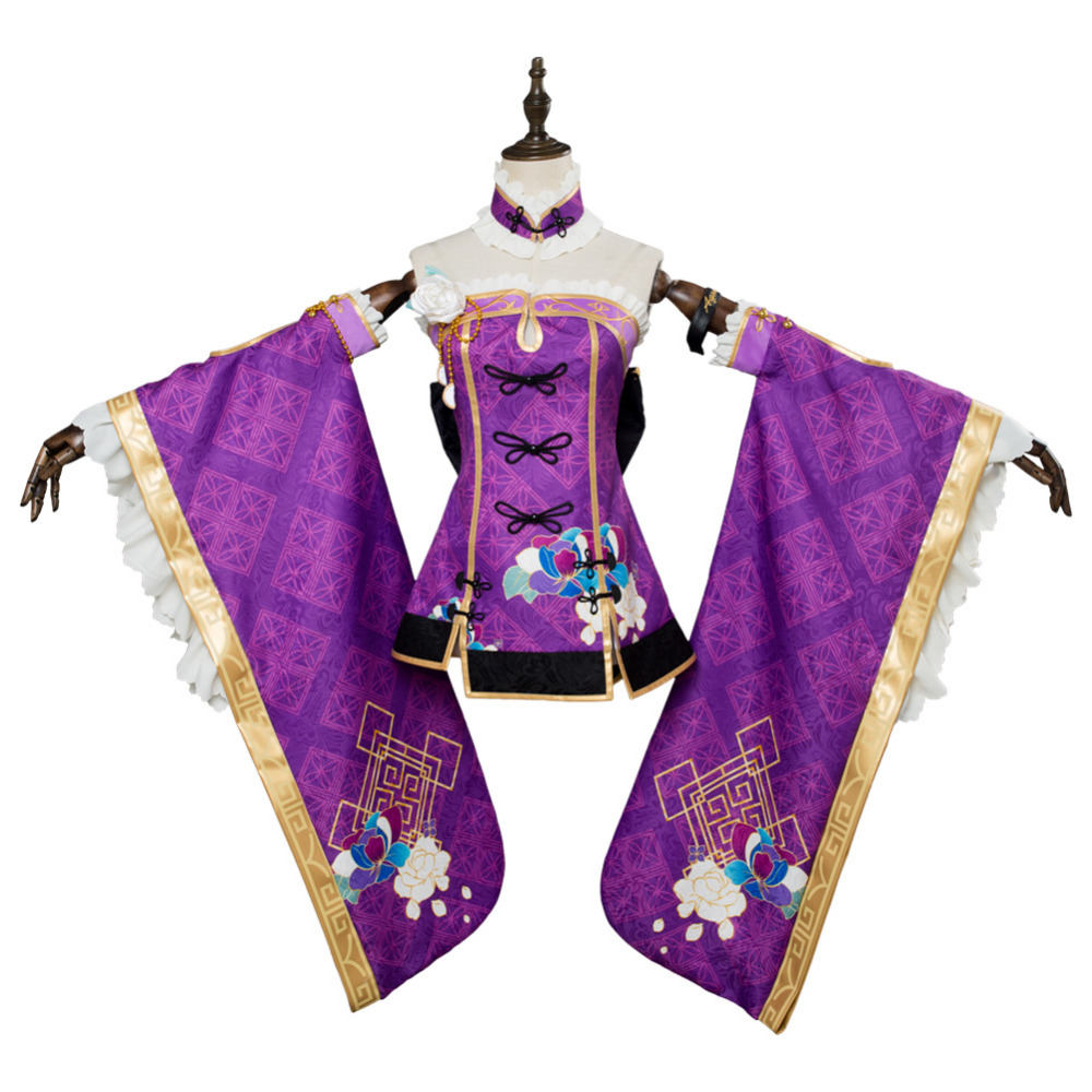 LoveLive Aqours Mari Ohara cheongsam Cosplay Costume Women Girls Cosplay China Dress Custom Made