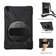 Case For Samsung Galaxy Tab A 10.1 inch 2019 SM-T510 T515 Rugged Hybrid Stand Cover Handle Rotate Shoulder Strap Shockproof Kids light weight kids case super protection cover handle stand case for kids children for samsung galaxy tab a 7 inch tablet