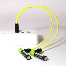 ZNTER 2PCS AAA 1.5V 400MAH Rechargeable Battery USB Charging Lithium Polymer Battery For RC Camera Drone Power ZNT7-1