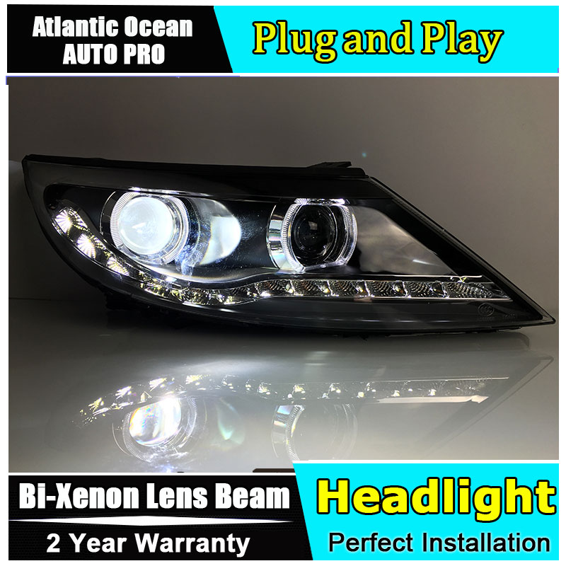 Car Styling Head Lamp for Kia Sportage R led headlights 2011-2013 Angel eye led HID KIT Bi-Xenon Lens low beam hireno headlamp for 2016 hyundai elantra headlight assembly led drl angel lens double beam hid xenon 2pcs