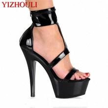d8d73fde1bd Summer Women s Sexy Platform High heel Shoes 15cm pole dancing Sandals 6  inch Exotic Dancer shoes