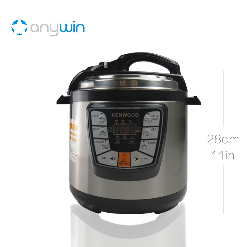 For Kenwood Pressure Cooker 6L Multivarka Electric Cooker 220V 1000W Smokehouse Teflon Coating Electric Rice Cooker Crockpots cukyi multi functional programmable pressure cooker rice cooker pressure slow cooking pot cooker 4 quart 900w stainless steel