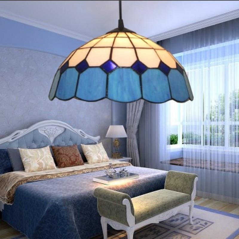 Restaurant, bar, light, blue, single head, simple balcony, bedroom, hanging lamp, Mediterranean Restaurant light tan jiachuan restaurant