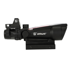 Image 2 - ohhunt 5X35 ACOG Style Three Model Reticle Red or Green Illuminated Tactical Rifle Scope with Red Dot for cal .223 .308 Rifle