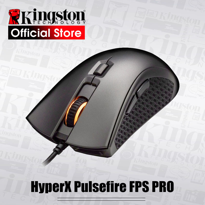 цена Kingston E-sports mouse HyperX Pulsefire FPS Pro RGB Gaming Mouse with native DPI up to 16000 Pixart 3389 sensor wired mouse