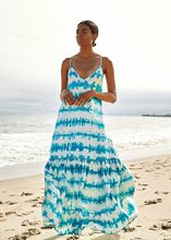 Women Summer Holiday Casual Loose Slip Sleeveless Off Shoulder  Dye Stripe Maxi Dress Boho Beach Floral Sundress