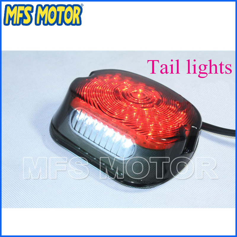 Motorcycle parts New LED RED Tail Light For Harley Davidson Softail Sportster Road King Dyna Electra Glide Fat Boy Smoke