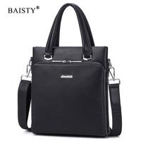 BAISTY Brand 2017 New Fashion Handbag New Men High Quality Solid Crossbody Bag PU Leather Luxury