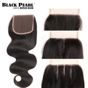 Image 3 - Black Pearl Brazilian Hair Weave Bundles Body Wave Bundles With Closure Brazillian Non Remy Human Hair 3 4 Bundles With Closure