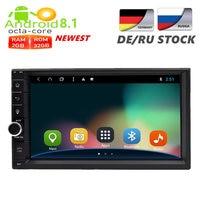 2 Din Android 8,1 универсальный автомобильный Радио gps навигации мультимедийный плеер Авто аудио стерео головного устройства 2G RAM FM Rds Wi Fi DAB