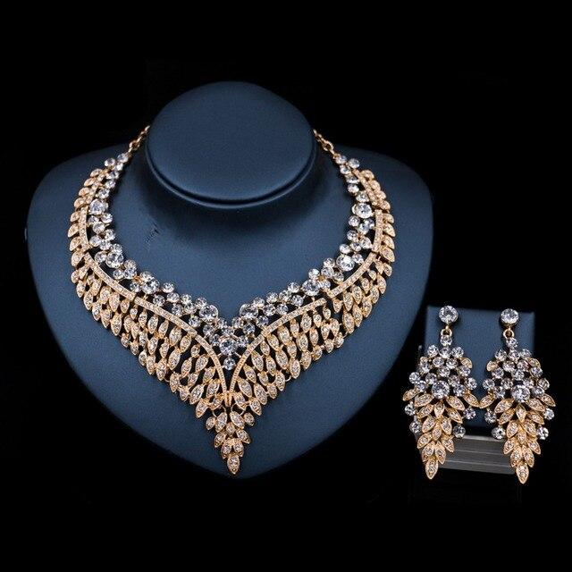 acquisto economico nuovi stili Raccogliere US $15.12 30% di SCONTO LAN PALAZZO prezzo all'ingrosso alla moda di  gioielli da sposa africano borda la collana e orecchini set di gioielli di  ...