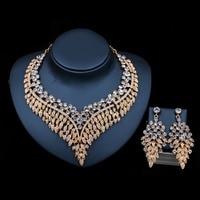 LAN SARAY toptan fiyat trendy gelin takı afrika boncuk kolye ve küpe kristal takı setleri ücretsiz nakliye