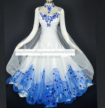 Modern Waltz Tango Ballroom Dance Dress, Handmade Dance Dress/Standard Ballroom Competition Dress Modern Waltz Tango