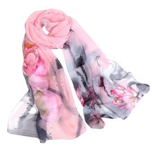 Floral Printed Scarves Women Autumn Winter Boho Beach Shawl Girls Elegant Ladies Casual Long Soft Wrap Scarf Manteau Femme #YL5(China)