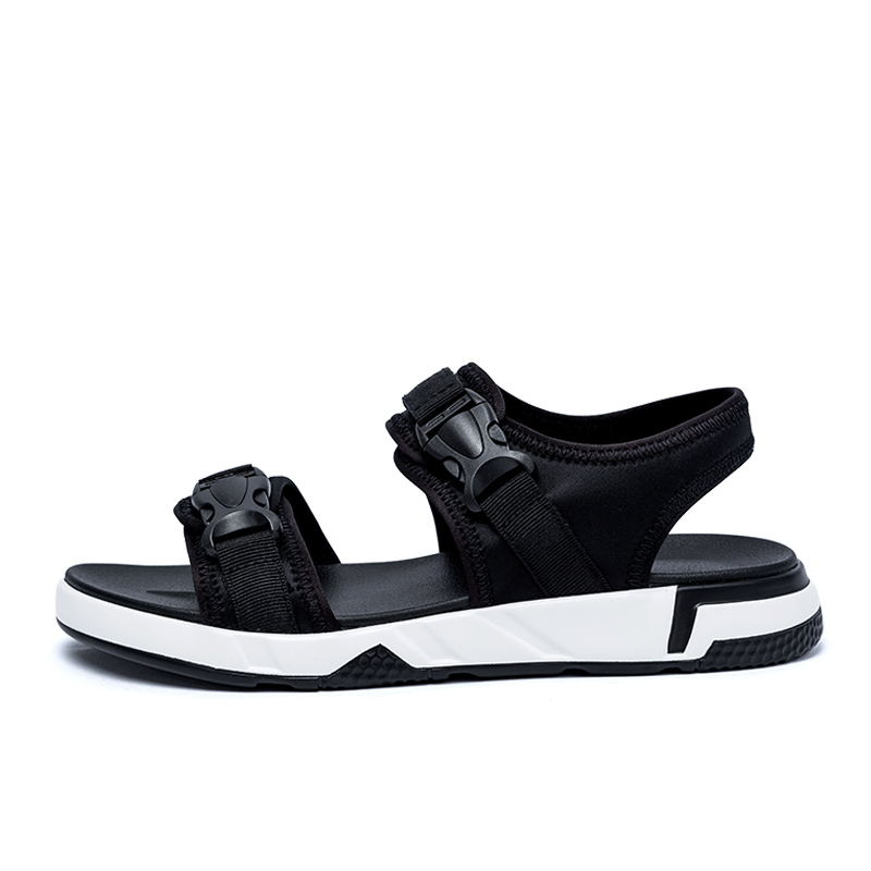 LAISUMK Summer Men Sandals Comfortable Hook amp Loop Men 39 S Summer Shoes Men 2018 Fashion Waterproof Men Casual Beach Shoes 39 44 in Men 39 s Sandals from Shoes