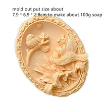 Bird Carved Soap lily and humming pattern handmade soaps mold Oval Craft Making Silicone Mold